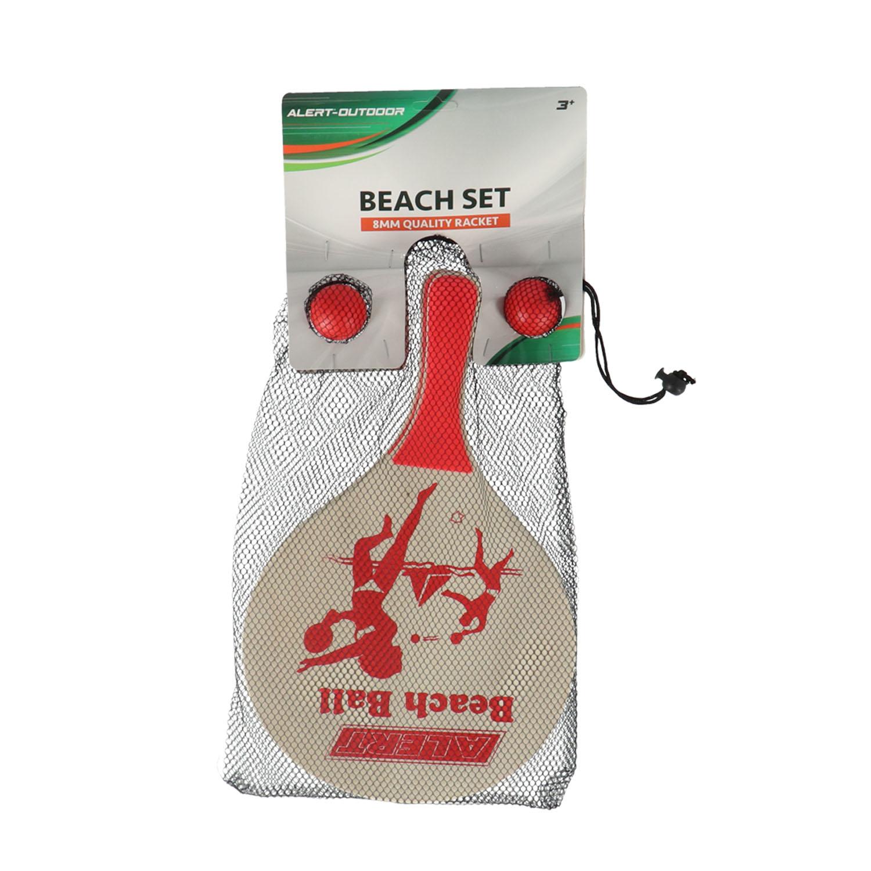 Afbeelding van Beachball Set Hout Deluxe Alert