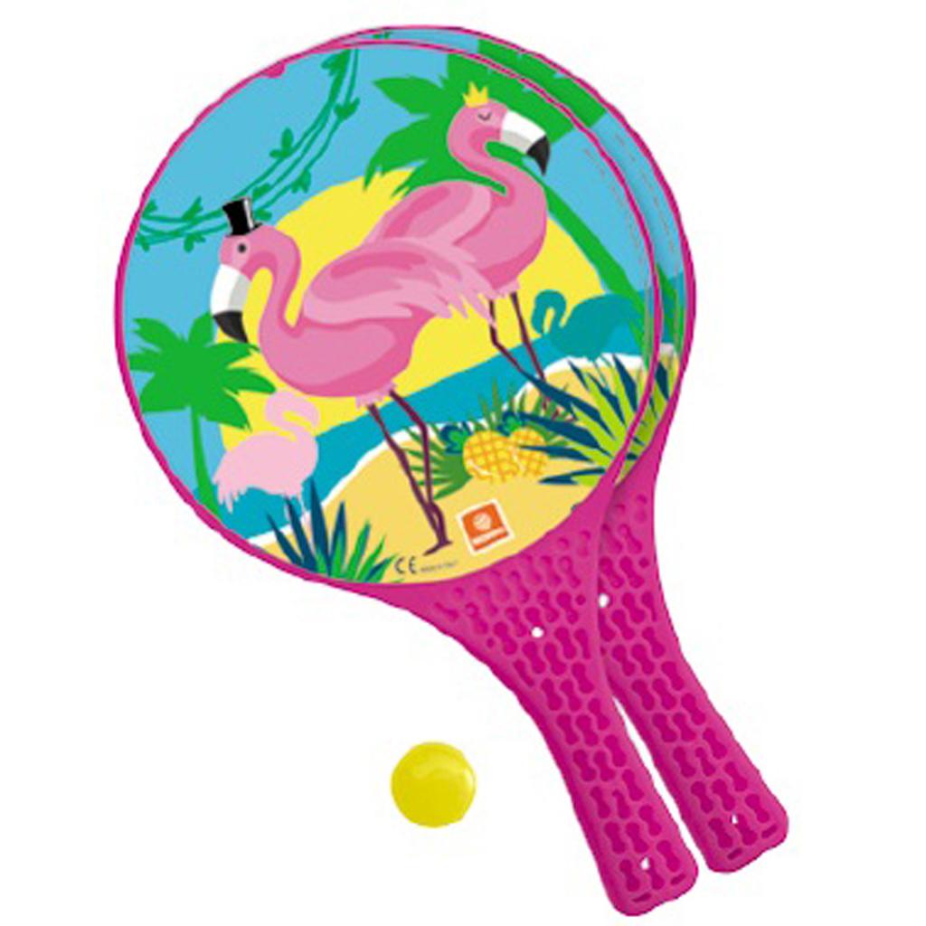 Afbeelding van Beachball Set Flamingo Kunststof