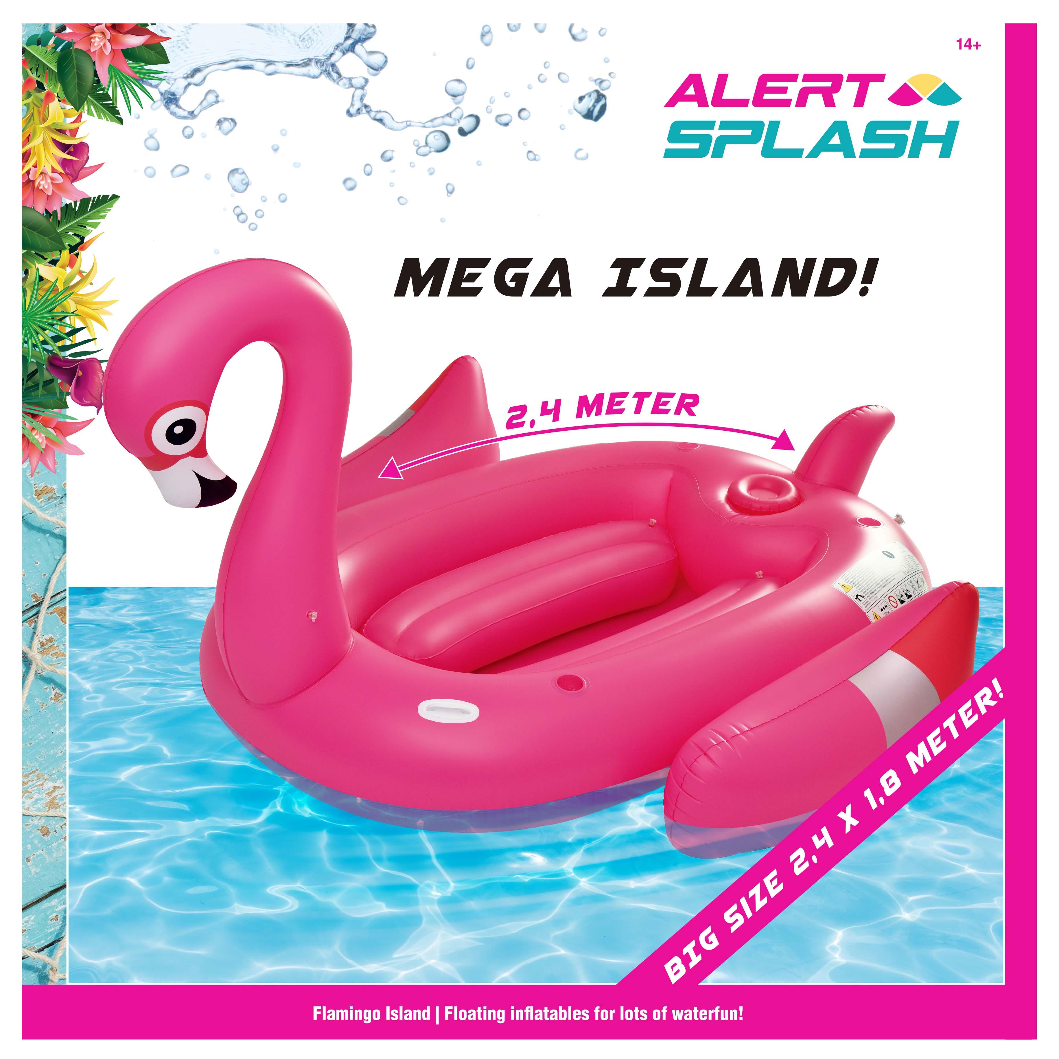 Afbeelding van Opblaasbaar Figuur Small Flamingo 240X180 Cm