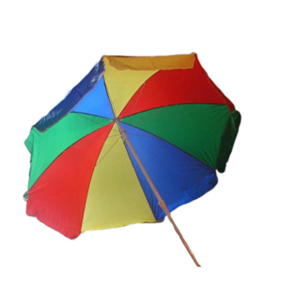 Afbeelding van Parasol Regenboog Knik 180 Cm