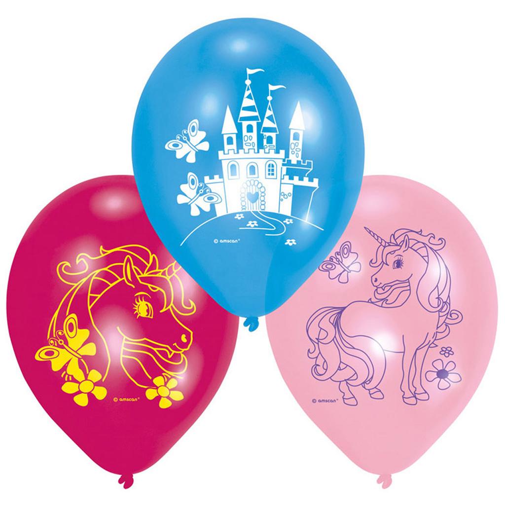 Afbeelding van Ballonnen Unicorn 6 Stuks