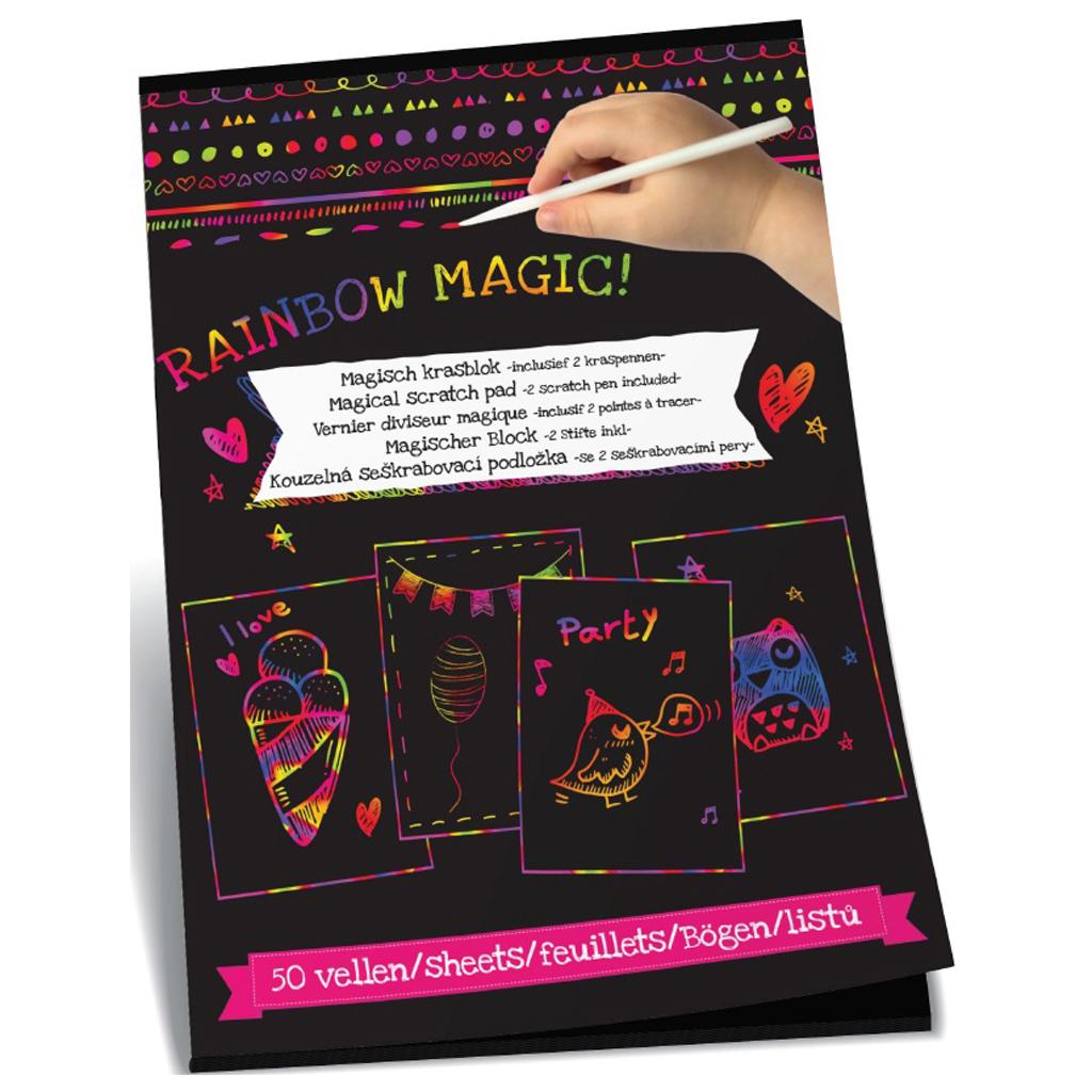 Afbeelding van Memopapier Scratch A4 50 Vel Met 2 Pennen
