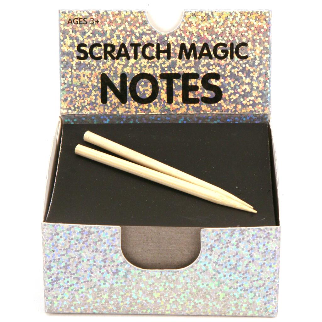 Afbeelding van Memoblaadjes Scratch 100 Vel Holografisch
