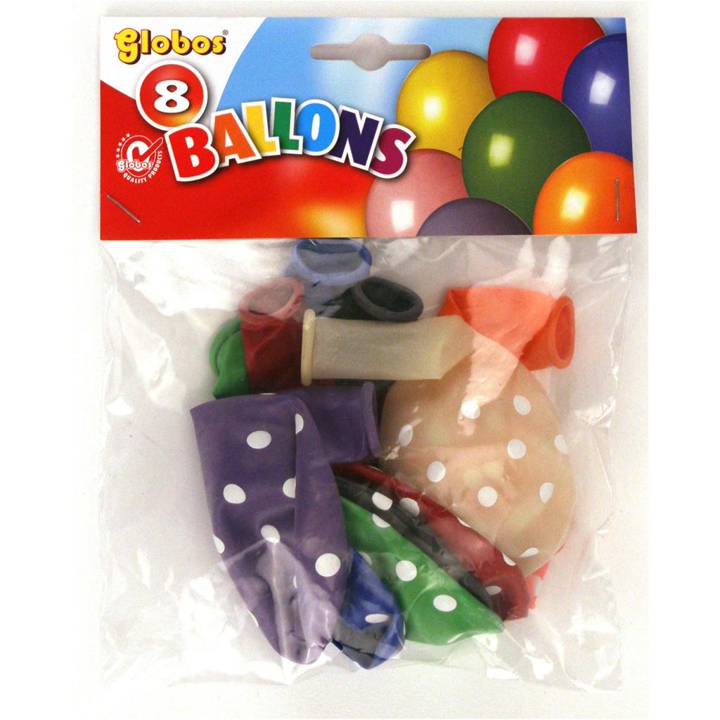 Afbeelding van Ballon Stippen 8 Stuks