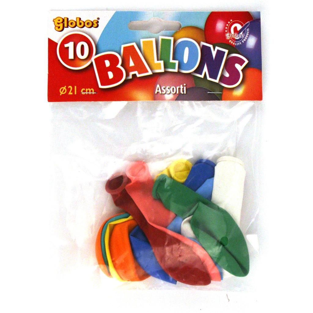 Afbeelding van Ballon Kleuren 10 Stuks 21 Cm Assorti
