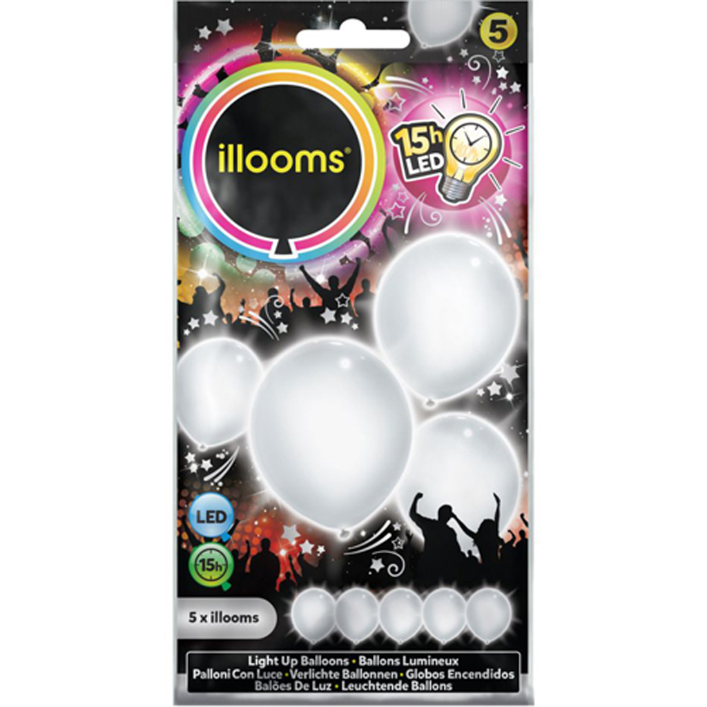 Afbeelding van Ballonnen Illooms White 5 Pack