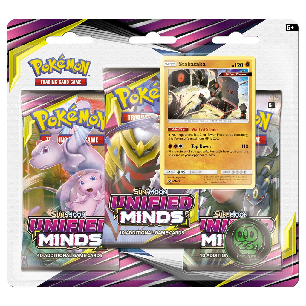 Afbeelding van Pokémon Sun & Moon U Minds 3-boosterblister