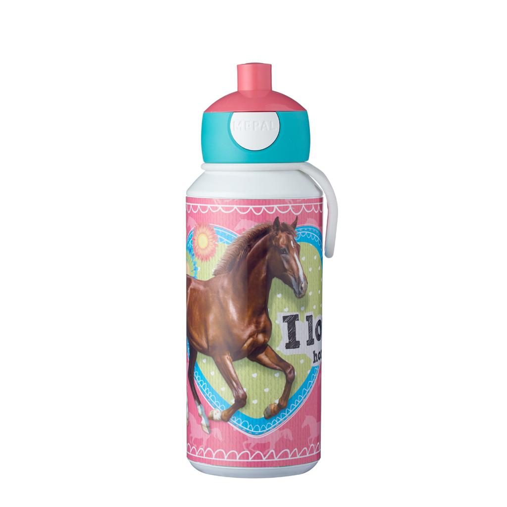 Afbeelding van Mepal Drinkfles Pop-Up Mijn Paard 400 ml