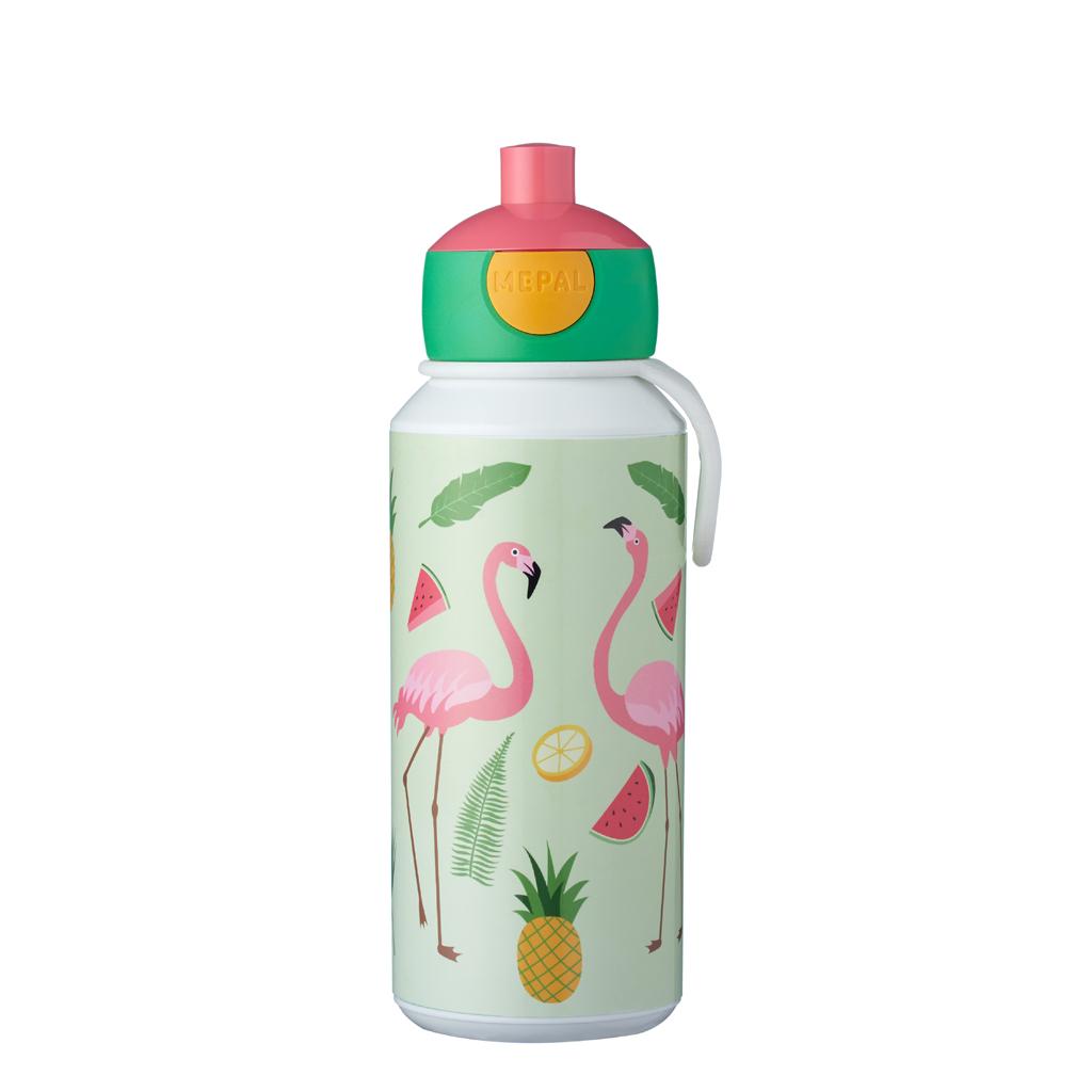 Afbeelding van Mepal Drinkfles Pop-Up Tropical Flamingo 400 ml