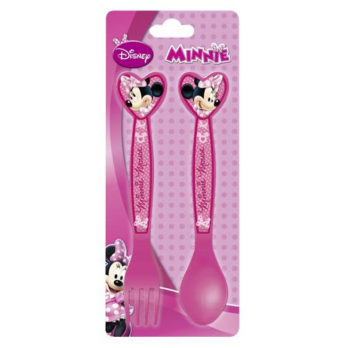 Afbeelding van Bestek Minnie Mouse Plastic 2-delig