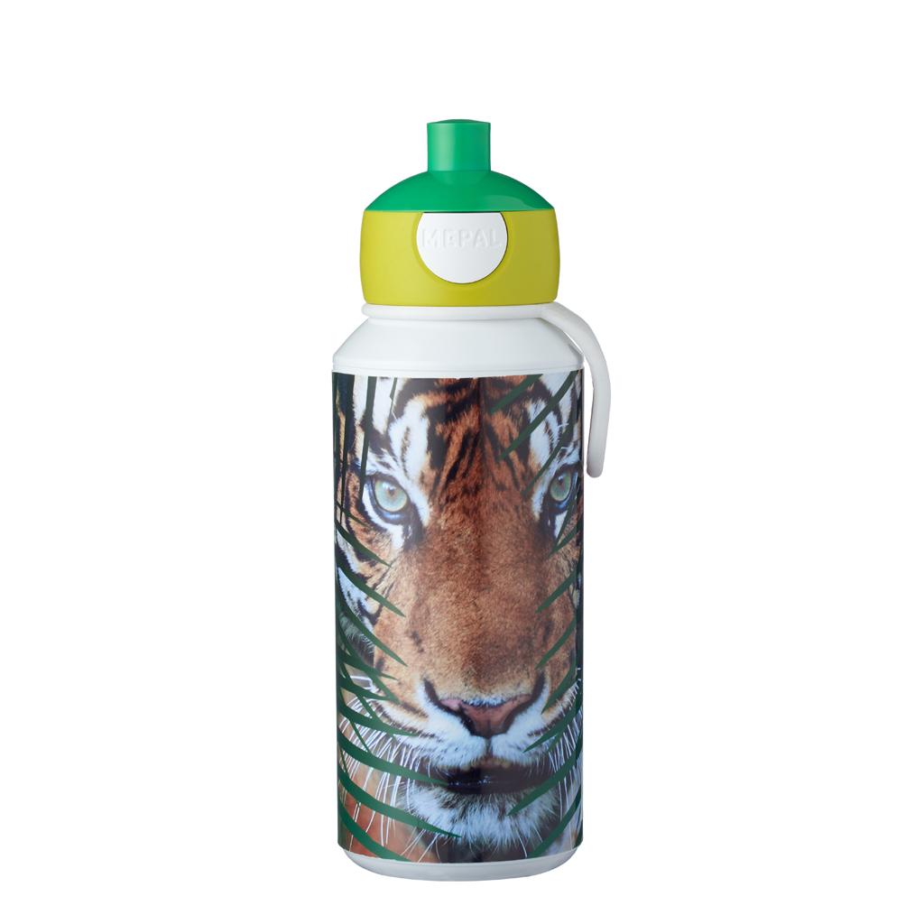 Afbeelding van Mepal Drinkfles Pop-Up Animal Planet Tijger 400 ml
