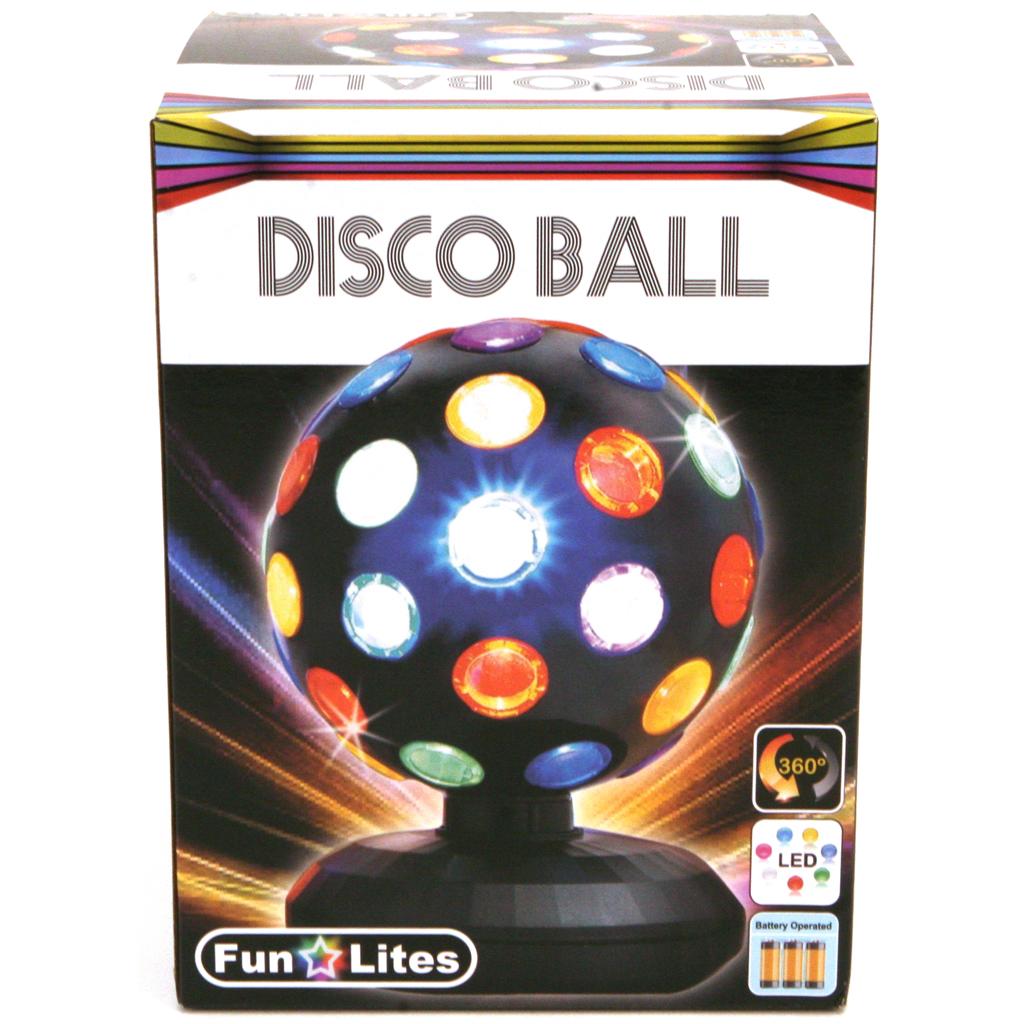 Afbeelding van Disco Bol LED Zwart 15 Cm