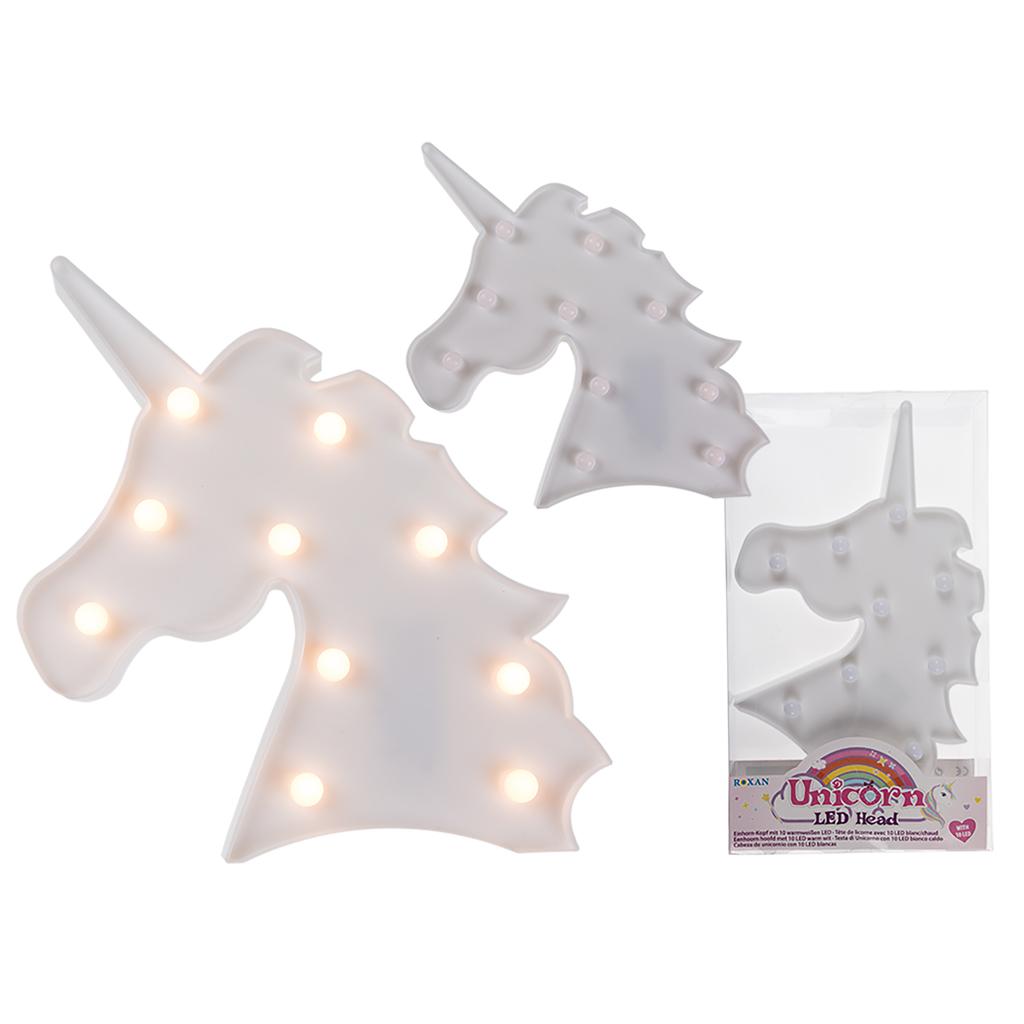 Afbeelding van Unicorn Hoofd Wit Met Led