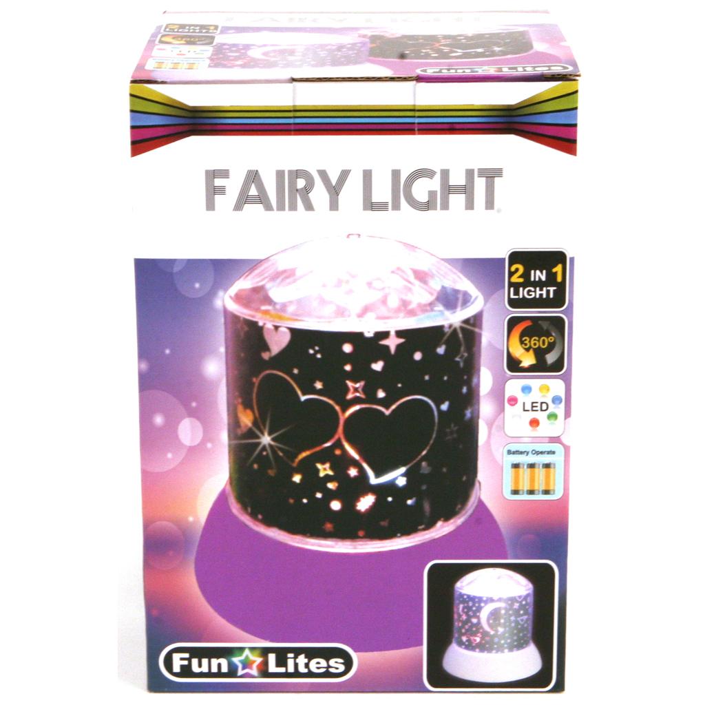 Afbeelding van Disco Nachtlamp Galaxy Roze