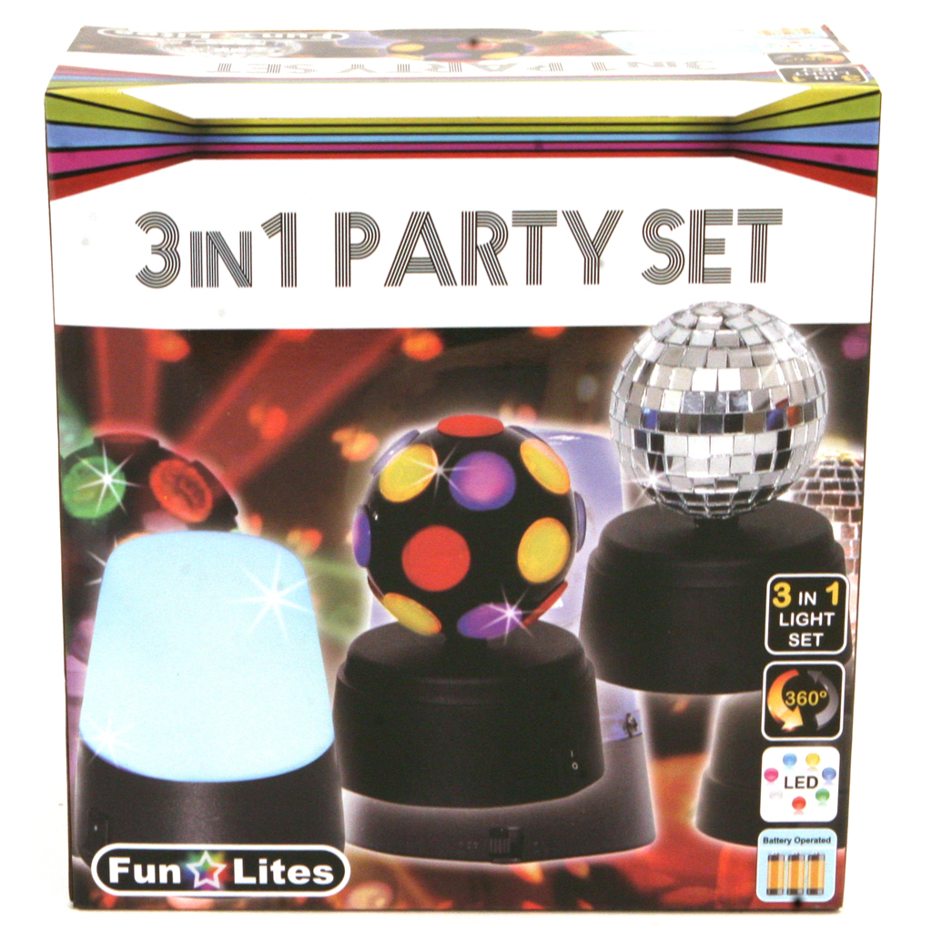 Afbeelding van Disco 3 In 1 Party Set B/O