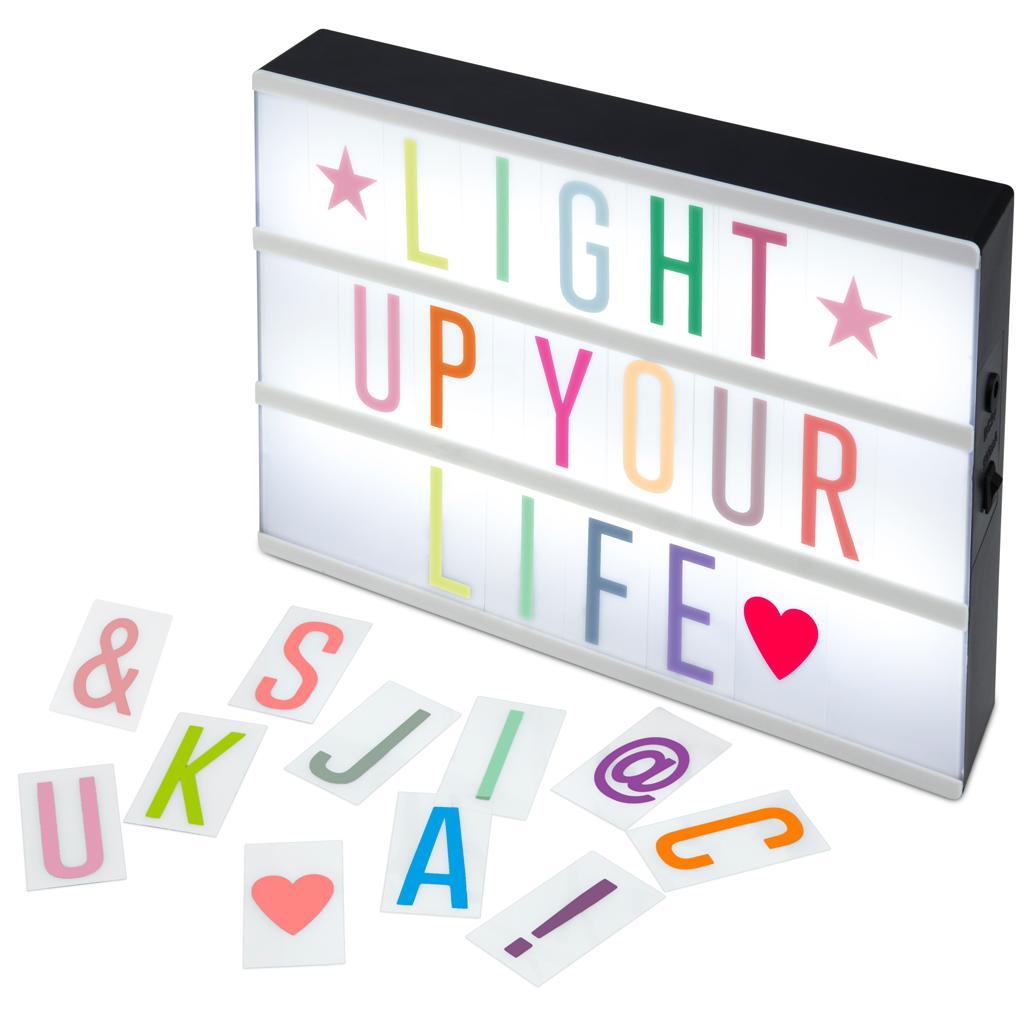 Afbeelding van Lichtbox A4 Led Gekleurde Letters 30 X 22 X 5,5 Cm