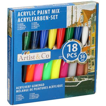 Acrylverf 18 Delig Mix