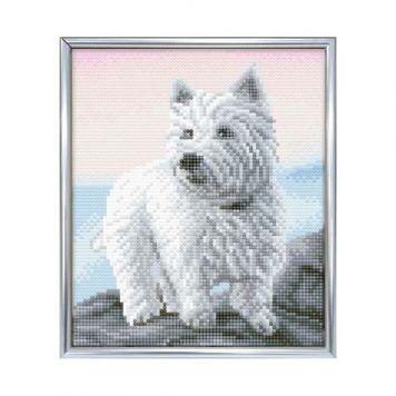 Crystal Art Hond Westie Met Frame 21 X 25 Cm