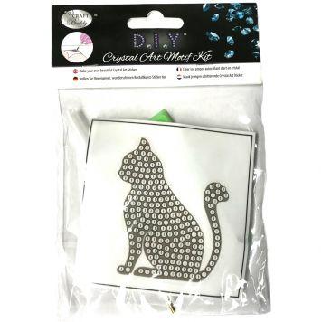 Crystal Art Kat Sticker Met Gereedschap