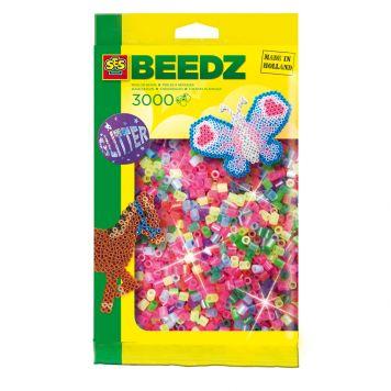 SES BEEDZ: Strijkkralen Glitter 3000 Stuks