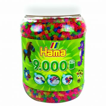 Strijkkralen Hama In Pot 9000 Stuks Neon