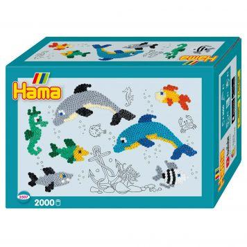 Strijkkralen Hama Dolfijnen 2000 Delig