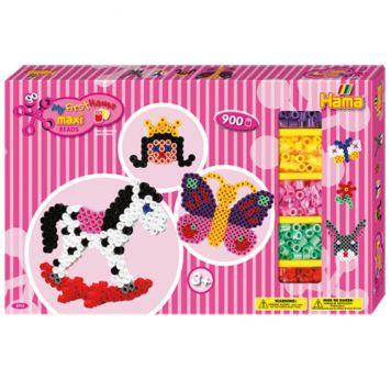Maxi Strijkkralen Hama Giftbox Meisjes 900 Stuks