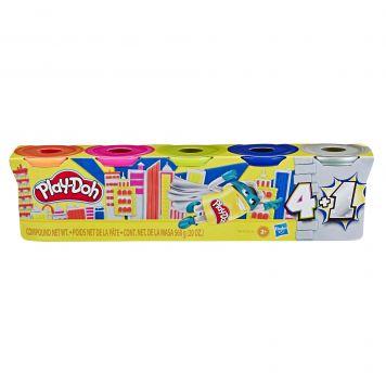Play-Doh 4+1 Zilver/Goud