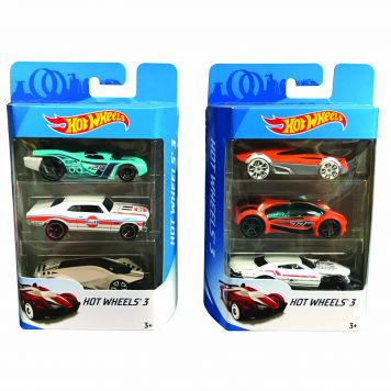 Hot Wheels Auto Diecast 3-Pack Assorti