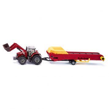 Tractor Siku Massey Ferguson Met Transportband