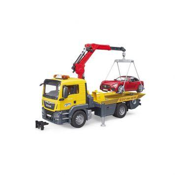 Bruder Vrachtwagen MAN Afsleepdienst Roadster Met  Licht En Geluid