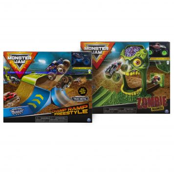 Monster Jam Stunt Playsets 1:64 3 Pack