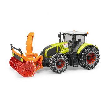 Bruder Tractor Claas Axion Met Sneeuwblazer En Sneeuwkettingen