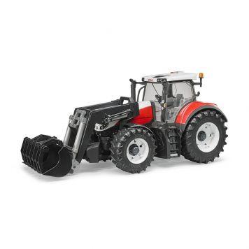 Bruder Tractor Steyr 630 Terrus CVT Met Frontlader
