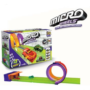 Micro Wheels Baan Met 2 Loopings