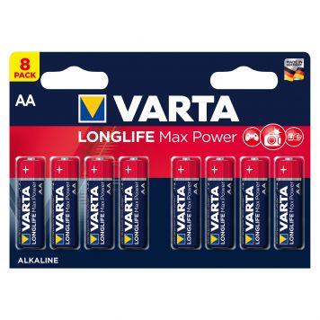 Batterij AA 8x Varta Alkaline Max Power