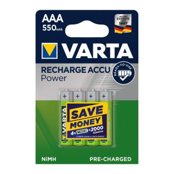 Batterijen Oplaadbaar Varta AAA 4 Stuks