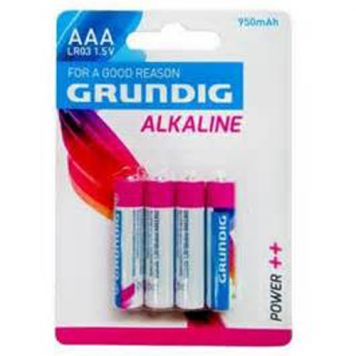 Batterijen AAA 4 Stuks Grundig Alkaline  950mAh