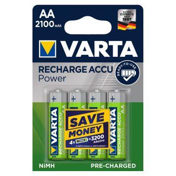 Batterij AA 4x Varta 2100mah Oplaadbaar