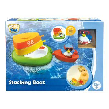 Badspeelgoed Stapelboot Met Pinguïn