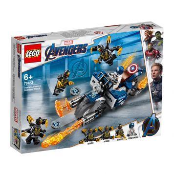 LEGO Marvel Avengers 76123 Captain America: Aanval Van De Outriders