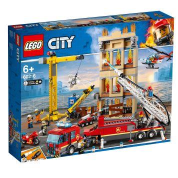 LEGO City 60216 Brandweerkazerne In De Stad