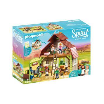 Playmobil 70118 Schuur Met Lucky, Pru En Abigail