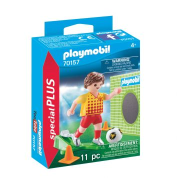 Playmobil 70157 Voetballer Met Doel