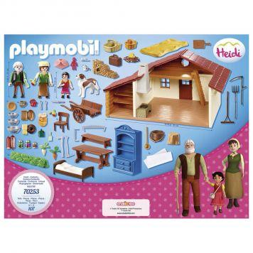 Playmobil 70253 Heidi Met Grootvader Bij De Alpenhut