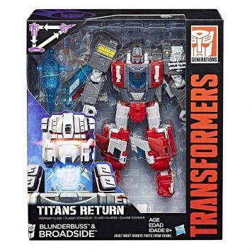 Transformers Gen Voyager Titan Return Blunderbuss + Broadside