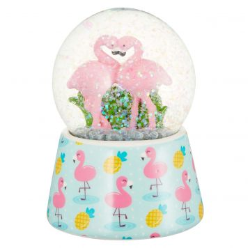 Flamingo Sneeuwbol 7 Cm