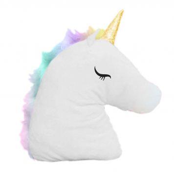 Unicorn Hoofd Kussen