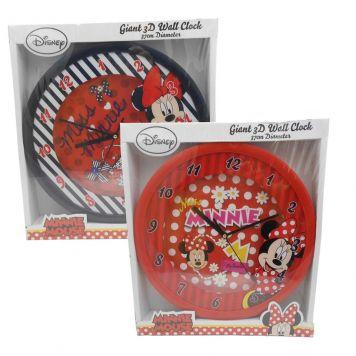 Wandklok Minnie Mouse 3D Assorti