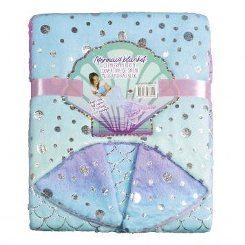 Zeemeerminnenstaart Deken Aqua-Roze Met Glitter